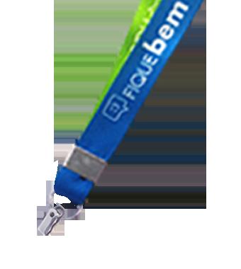 Cordão para Crachá Personalizado com Clip 35mm